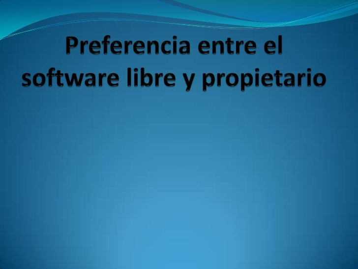 Pues la verdad es que prefiero a ambossoftware por que ambos me brindan muybuenas aplicaciones.El software libre como el p...