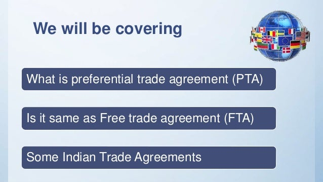 Preferential Trade Agreement Pta India