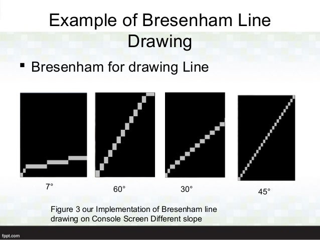 Bresenham Line Drawing Algorithm Negative Slope : D plotter presentation