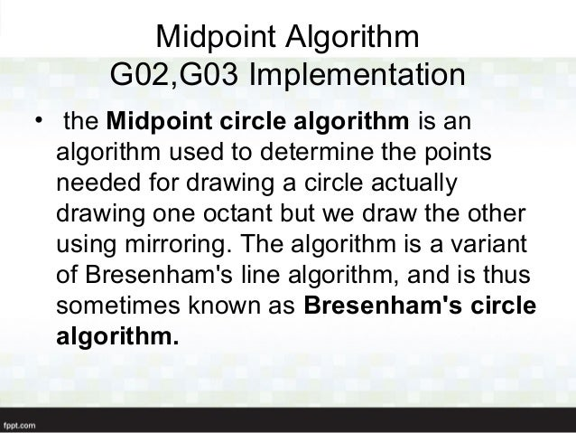 Bresenham Line Drawing Algorithm Example : D plotter presentation