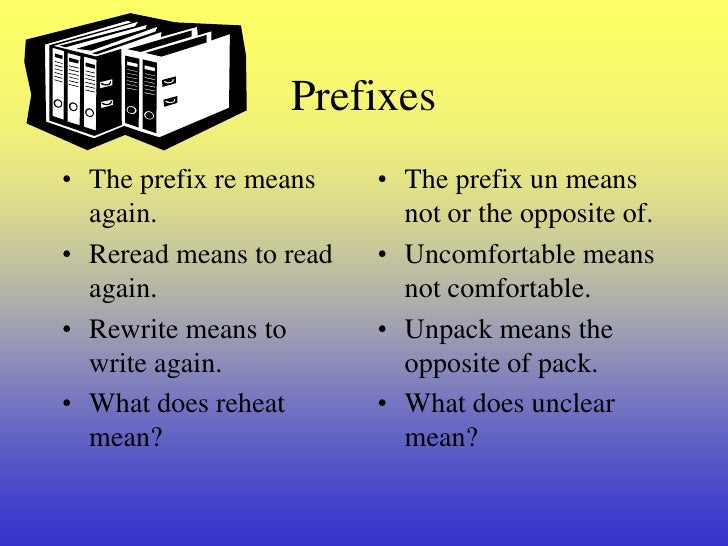 prefix suffix and base words