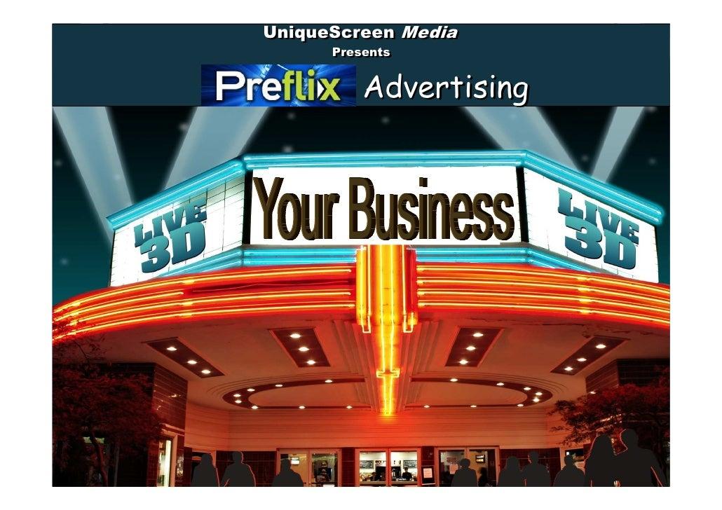 UniqueScreen Media           UniqueScreen                 Presents                 Presents  Marquee             Advertisi...