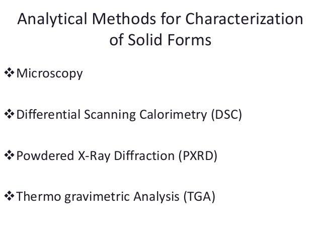 Chemical Property Testing Methods