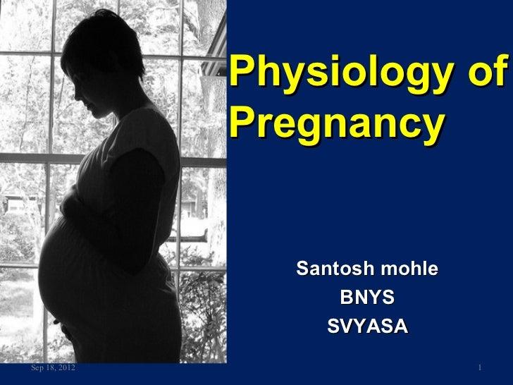 Physiology of               Pregnancy                  Santosh mohle                      BNYS                     SVYASAS...