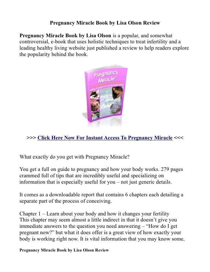 Pregnancy Miracle Book By Lisa