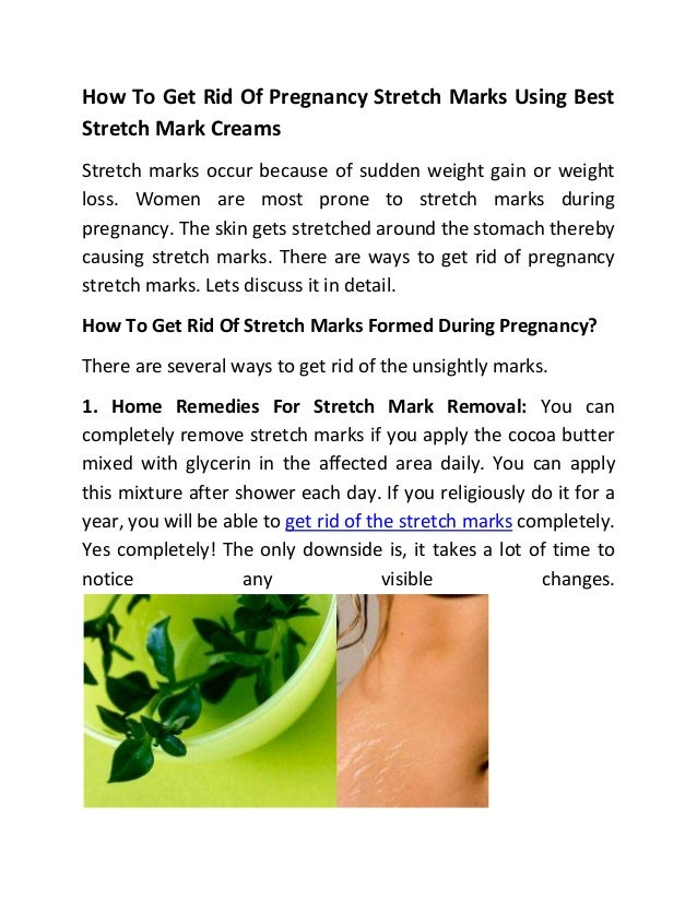 How To Get Rid Of Pregnancy Stretch Marks Using Best Stretch Mark Cre…