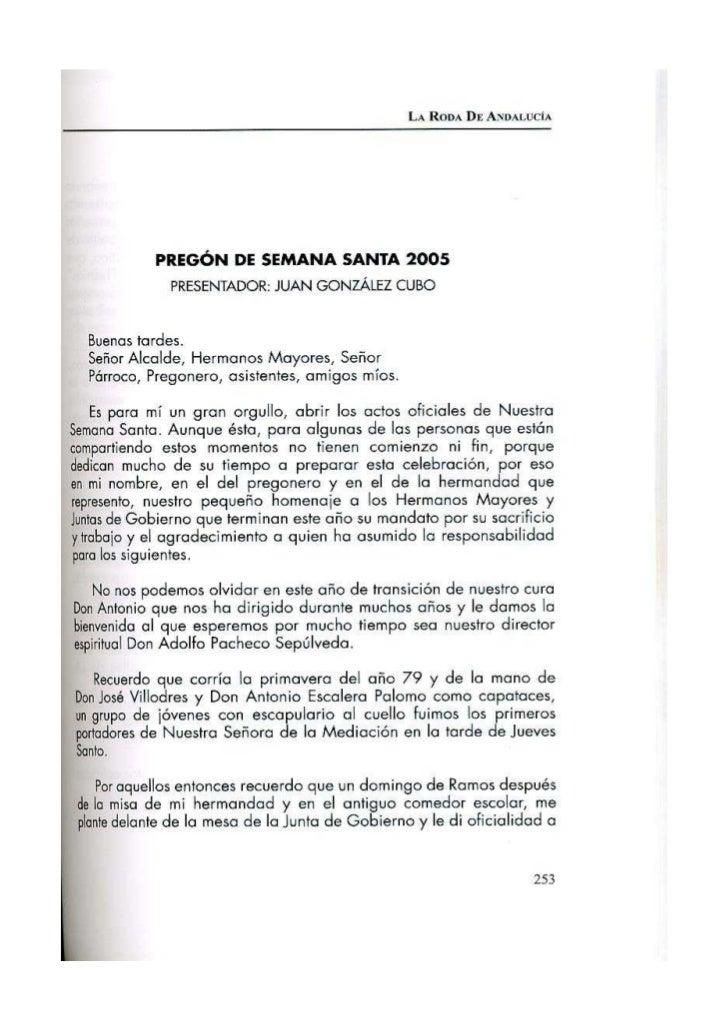 Pregón 2005 RAFAEL A. PRADOS RODRÍGUEZ