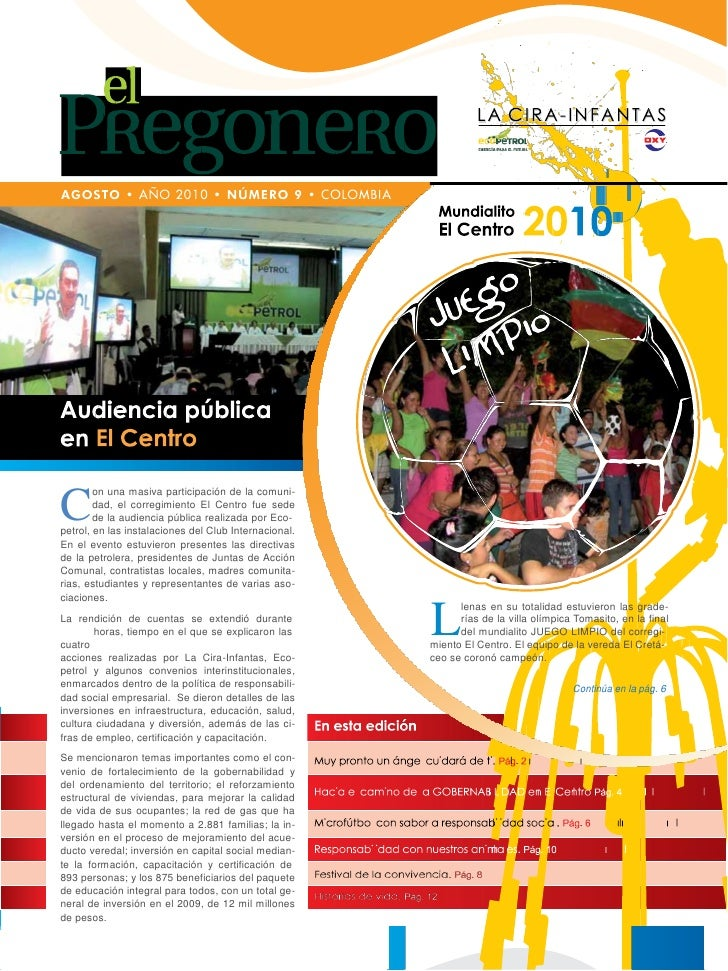 on una masiva participación de la comuni-C       dad, el corregimiento El Centro fue sede        de la audiencia pública r...