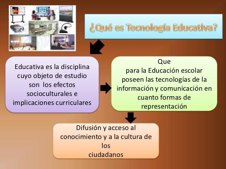 Que Educativa es la disciplina          para la Educación escolar  cuyo objeto de estudio            poseen las tecnología...
