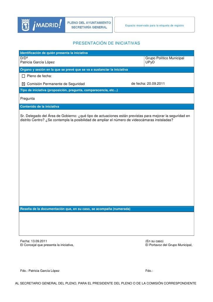 Espacio reservado para la etiqueta de registro                                        PRESENTACIÓN DE INICIATIVAS  Identif...