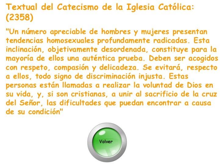Catecismo de la iglesia catolica homosexual