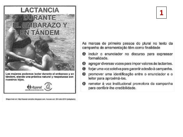 Preguntas de español en el ENEM 2014. Slide 2