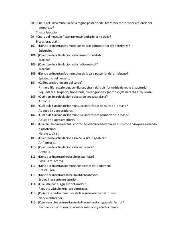 Preguntas de examen anatomia