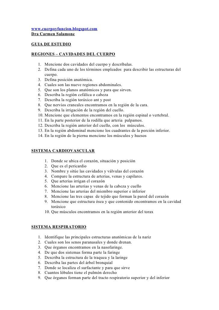 Dorable Cardiovasculares Anatomía Y Fisiología Cuestionario Molde ...
