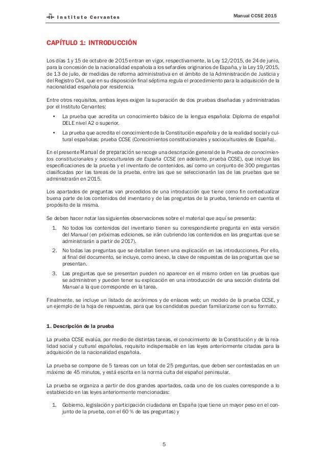 Preguntas Y Respuestas Examen De Nacionalidad Espanola