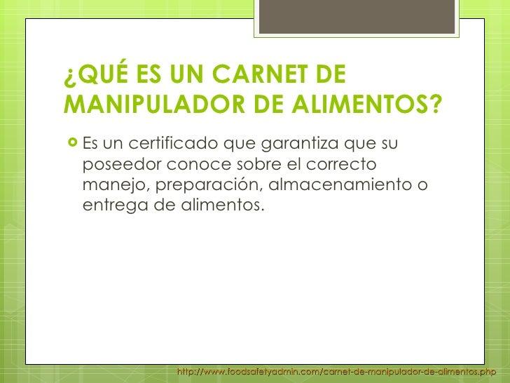 preguntas frecuentes certificado de manipulador de alimentos