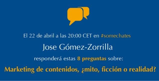 Preguntas para Jose Gómez-Zorrilla