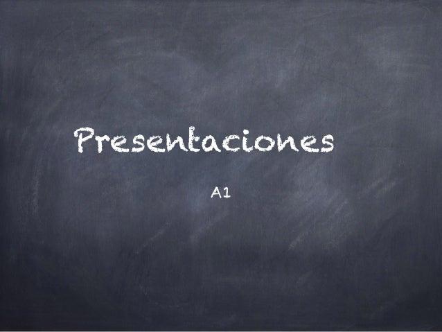 Presentaciones A1
