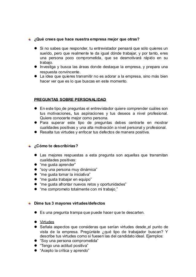 Ejemplos De Defectos Para Decir En Una Entrevista Opciones De Ejemplo