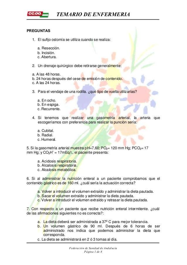 Preguntas Y Respuestas Razonadas De Enfermeria