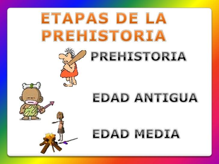 ETAPAS DE LA PREHISTORIA<br />PREHISTORIA<br />EDAD ANTIGUA<br />EDAD MEDIA<br />