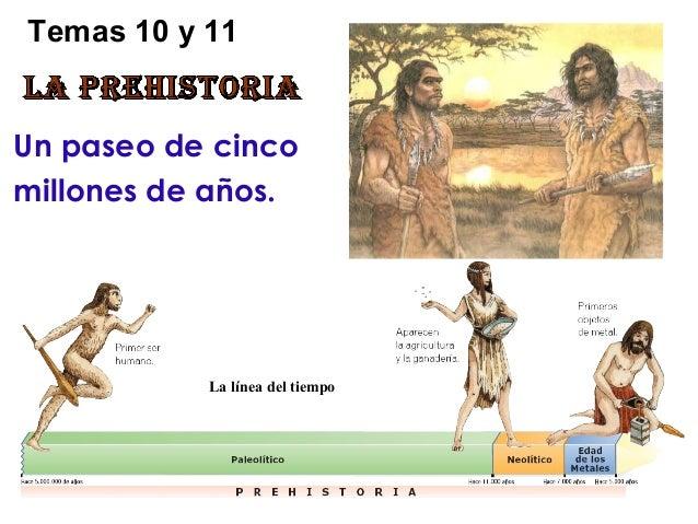 Temas 10 y 11Un paseo de cincomillones de años.           La línea del tiempo
