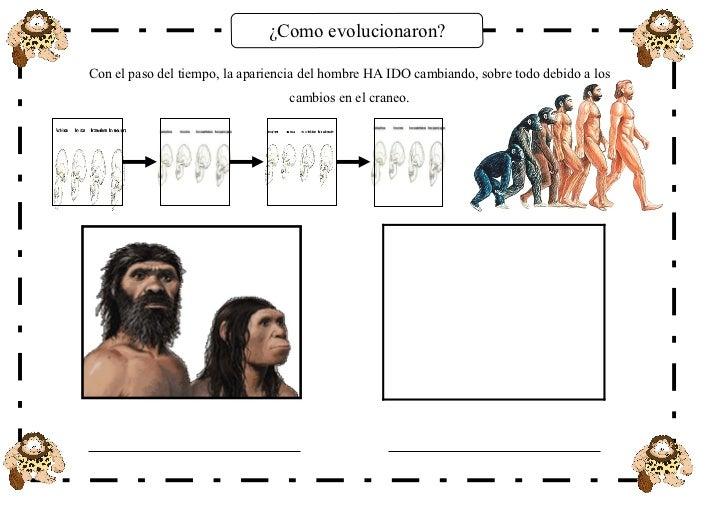 ¿Como evolucionaron?Con el paso del tiempo, la apariencia del hombre HA IDO cambiando, sobre todo debido a los            ...