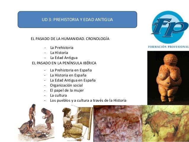 UD 3: PREHISTORIA Y EDAD ANTIGUA EL PASADO DE LA HUMANIDAD. CRONOLOGÍA - La Prehistoria - La Historia - La Edad Antigua EL...