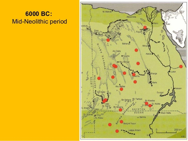 Prehistoric Egypt - Map of fayoum egypt