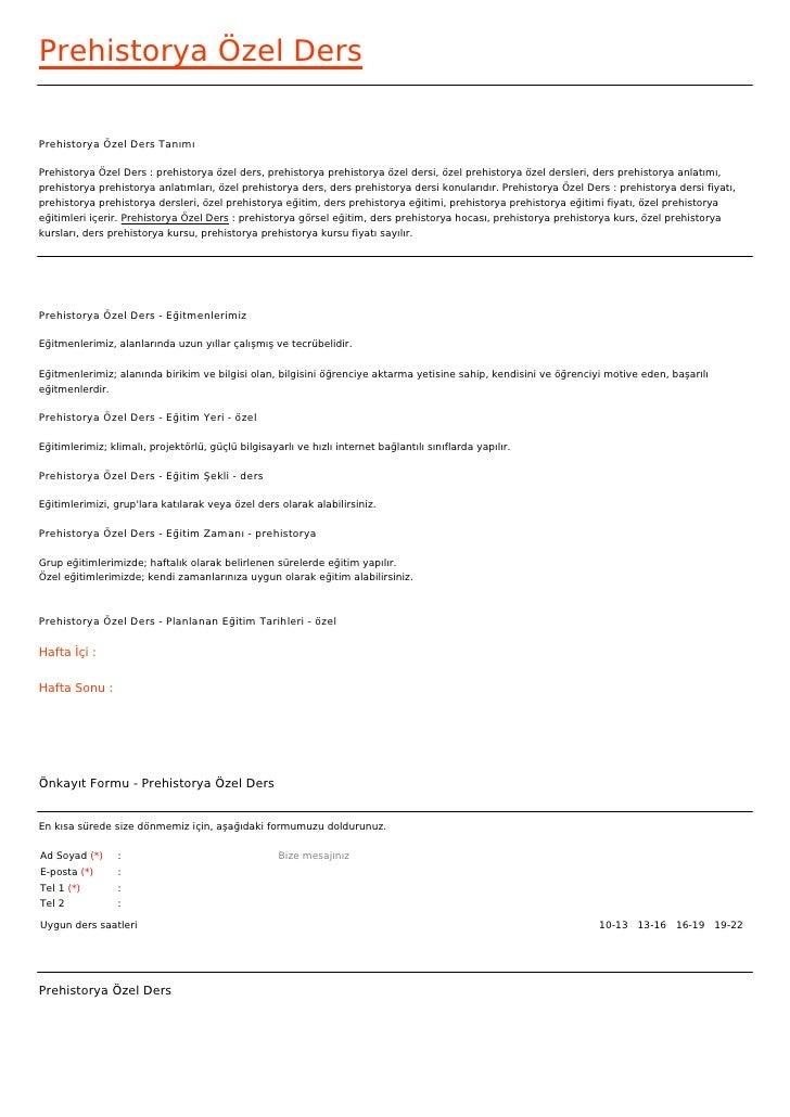 Prehistorya Özel DersPrehistorya Özel Ders TanımıPrehistorya Özel Ders : prehistorya özel ders, prehistorya prehistorya öz...