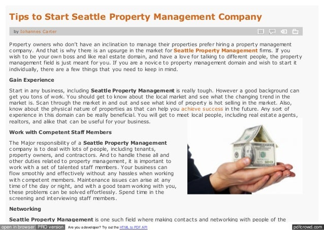 Property Management Firms Seattle