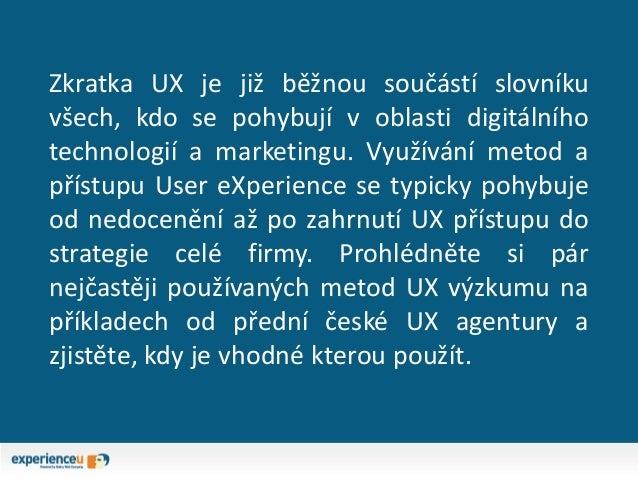 Přehled metod UX výzkumu Slide 2