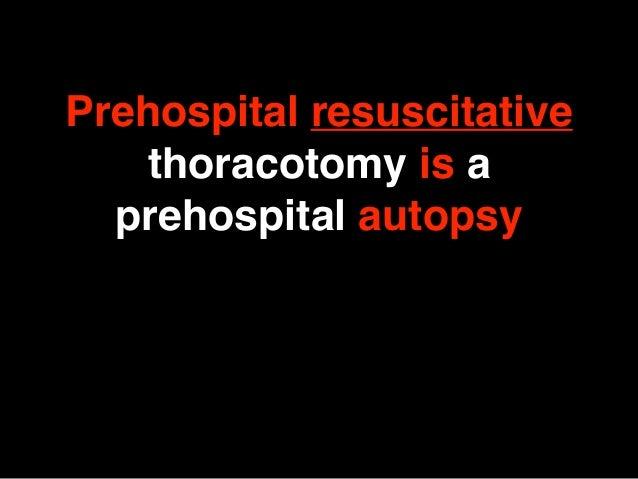 Clamshell Thorakotomie Prehospital