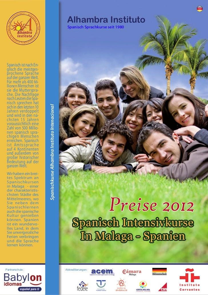 Alhambra Instituto                                                                           Spanisch Sprachkurse seit 198...