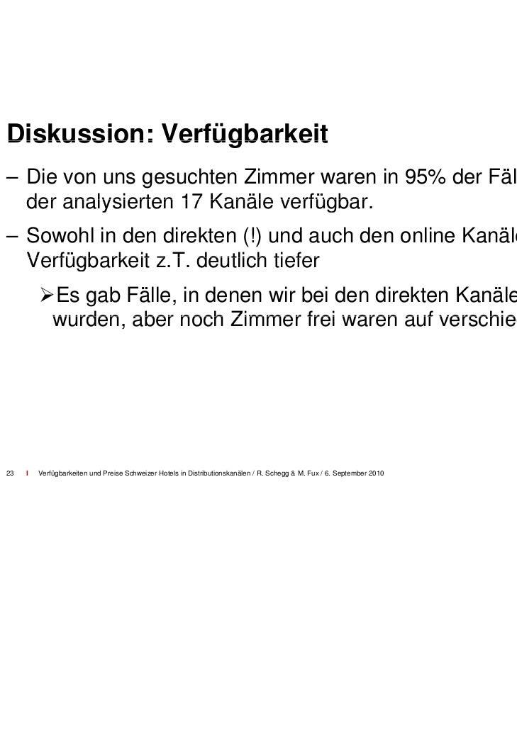 """Diskussion: Verfügbarkeit un """"billboard effect                           nd           effect""""– Verfügbarkeit/Sichtbarkeit ..."""