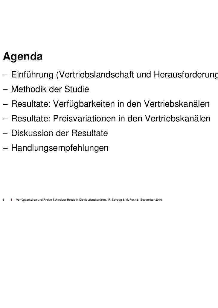 Vertrieb in Schweizer Hoteller 2002-2009                              rie  Global Distribution                            ...
