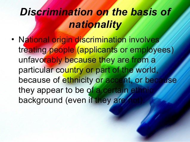 accent discrimination on the job Job searching career planning internships  as a form of employment discrimination,  weight, habits, accent,.