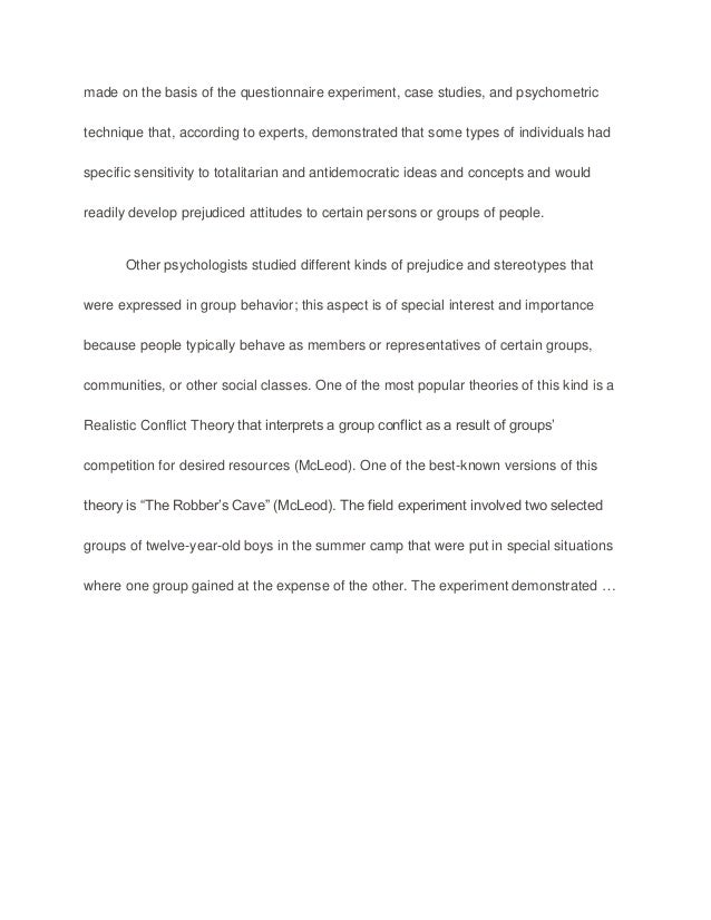 Essay about racism and discrimination