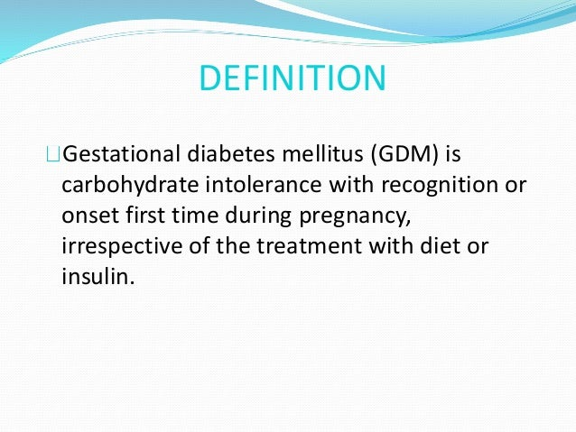Universal screening for gestational diabetes by DIPSI test by Dr.Prek…