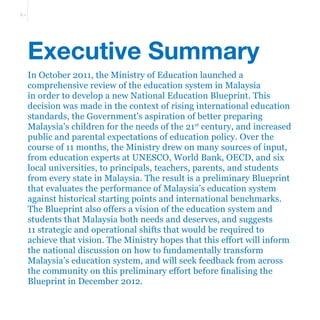 Malaysia education blueprint with 11 key shift towards 2025 prximo slideshare malvernweather Gallery