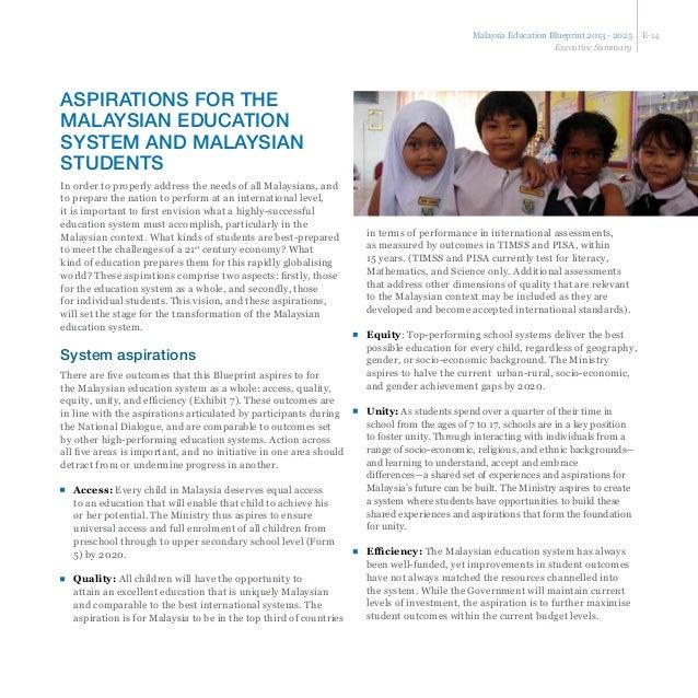 Malaysia Education Blueprint With 11 Key Shift Towards 2025