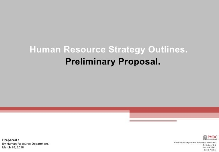 Preliminary Hr Proposal