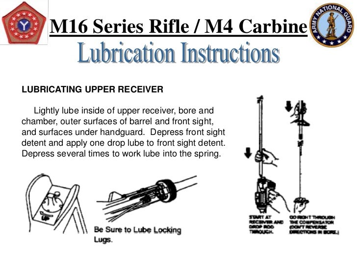 sop for m4a1 carbines weekly maintenance 01092002  read this essay on arms room sop  1005-01-231-0973) (eic:4fj), carbine, 556 mm, m4a1  of the soldier to do weekly maintenance (pmcs).