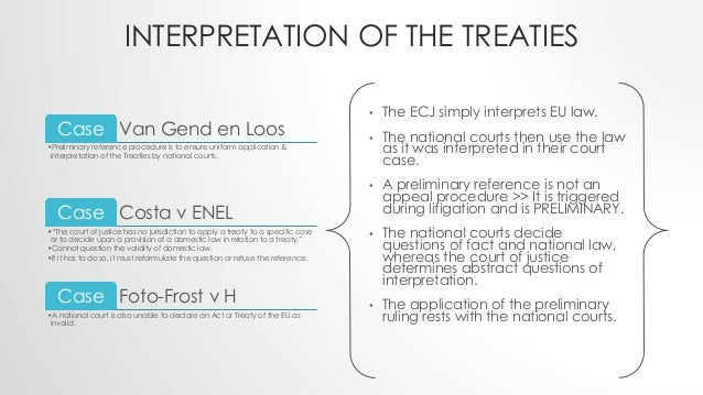 preliminary ruling eu law essay Treaty on the functioning of the european union law european essay  on the functioning of the european union  received preliminary ruling and must apply it when .
