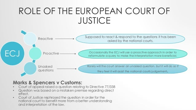 what is the jurisdiction of the european court of justice