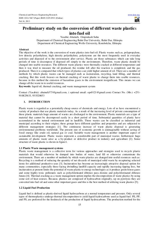 Chemical and Process Engineering Research ISSN 2224-7467 (Paper) ISSN 2225-0913 (Online) Vol.16, 2013  www.iiste.org  Prel...