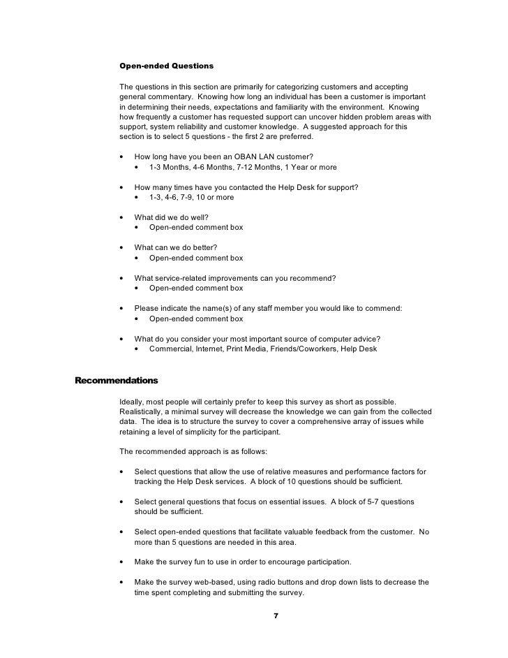 it customer satisfaction survey development