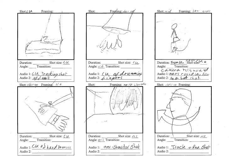 Preliminary task   story board