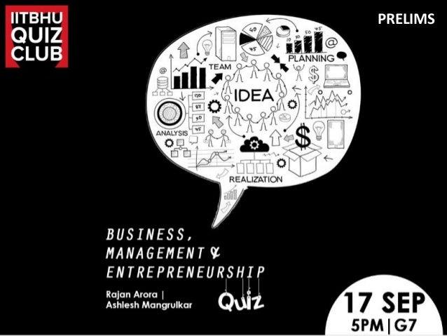 Business Management Amp Entrepreneurship Quiz Prelims Iit