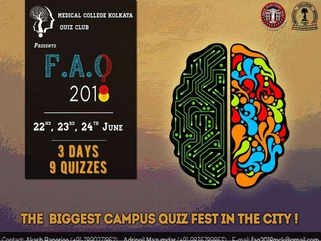 General Quiz F.A.Q 2018 Researched and Conducted by Dr. Aakash Roy